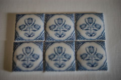 Dutch Delft Tulips, 18c, M8